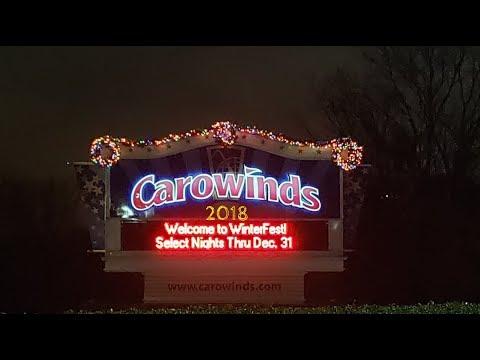 Carowinds Winterfest 2018 Walk Through