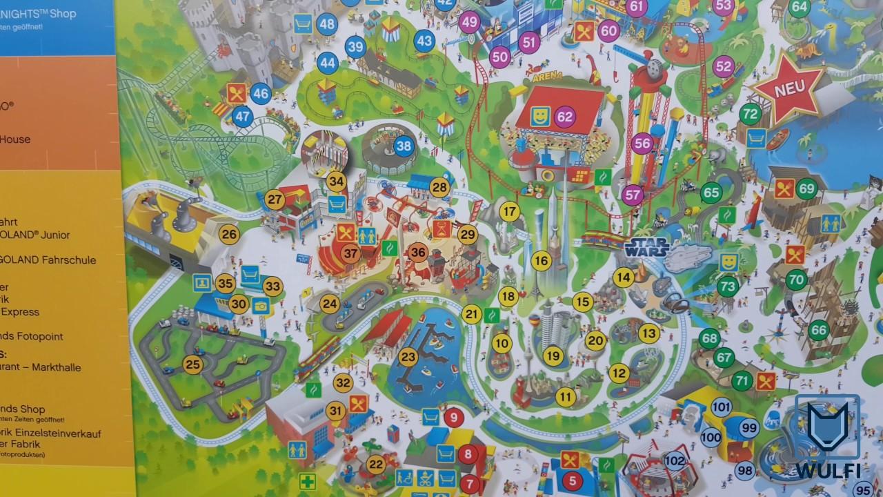 Legoland Germany Park Map Youtube