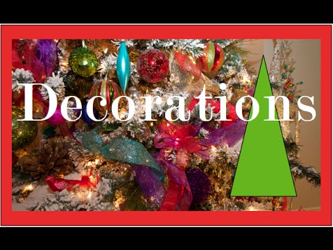 Garlands, Ribbons and Bows on a Christmas Tree | Christmas Decorating