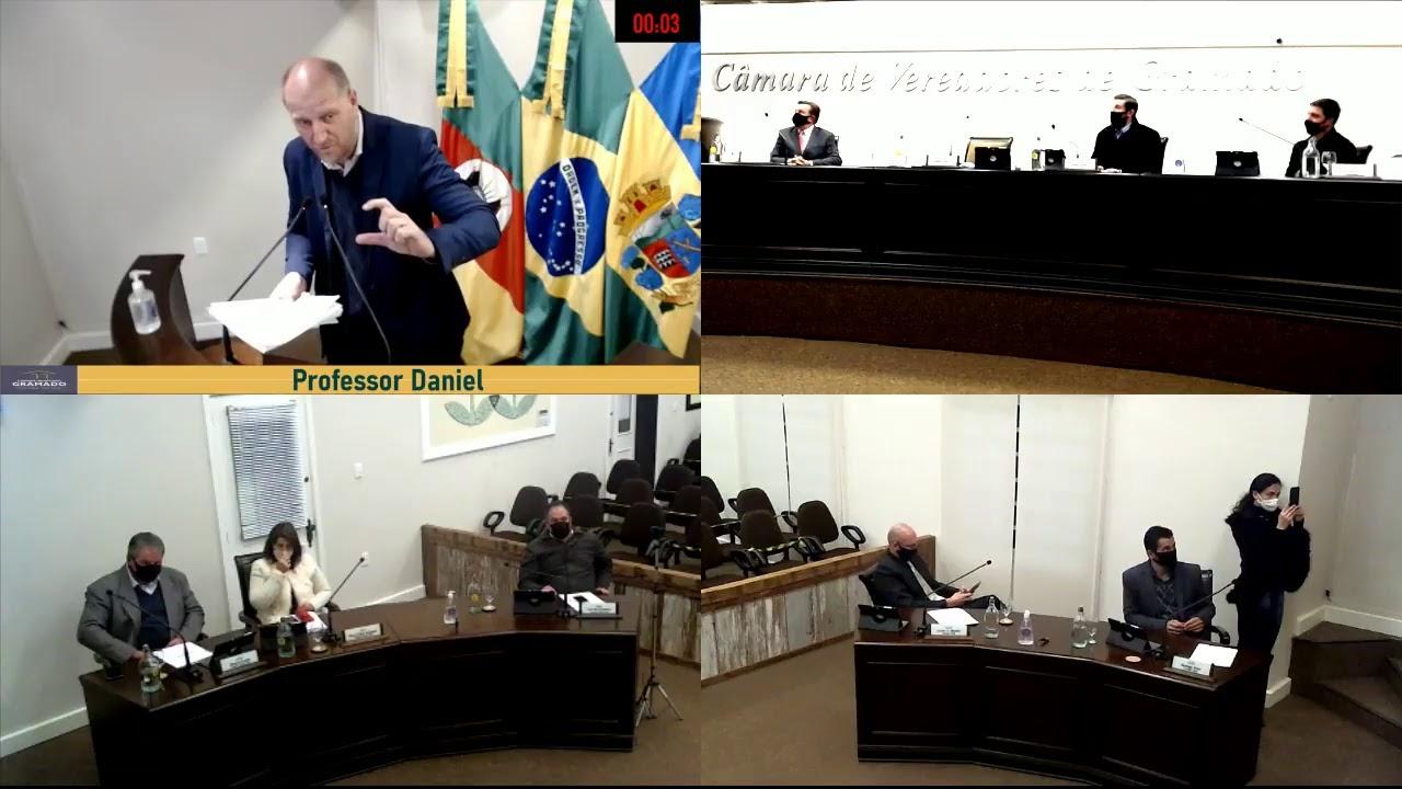 Sessão Ordinária da Câmara de Vereadores de Gramado, realizada na segunda-feira, 24 de maio de 2021