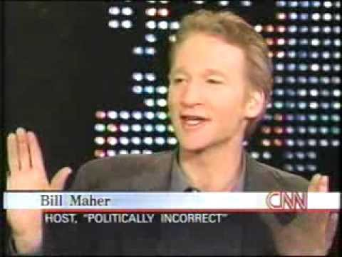 Bill Maher on Larry King Live 2000-- GREAT INTERVIEW!