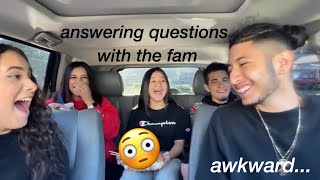 Q&A with my siblings