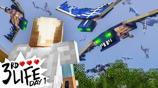 Minecraft 3rd Life: Day 1 - Massive Phantom Attack!
