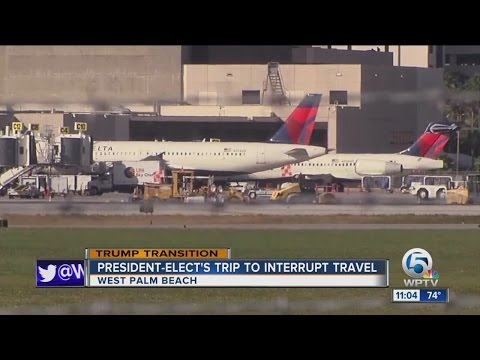 President-elect's trip to interrupt travel