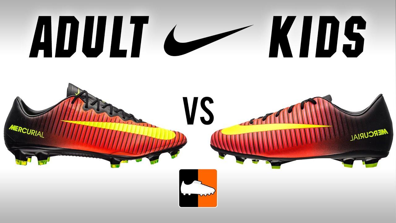 arriving cheap sports shoes Adult v Kids Vapor XI | Nike Jnr & Children's Mercurial Football Boots  Comparison