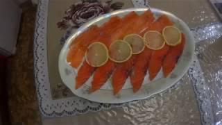 Рыба красная малосольная, сухим посолом. Крупный кусок.