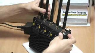 RCJ40 D 5 band cell phone jammer, gps, wifi, 3G blocker.mp4