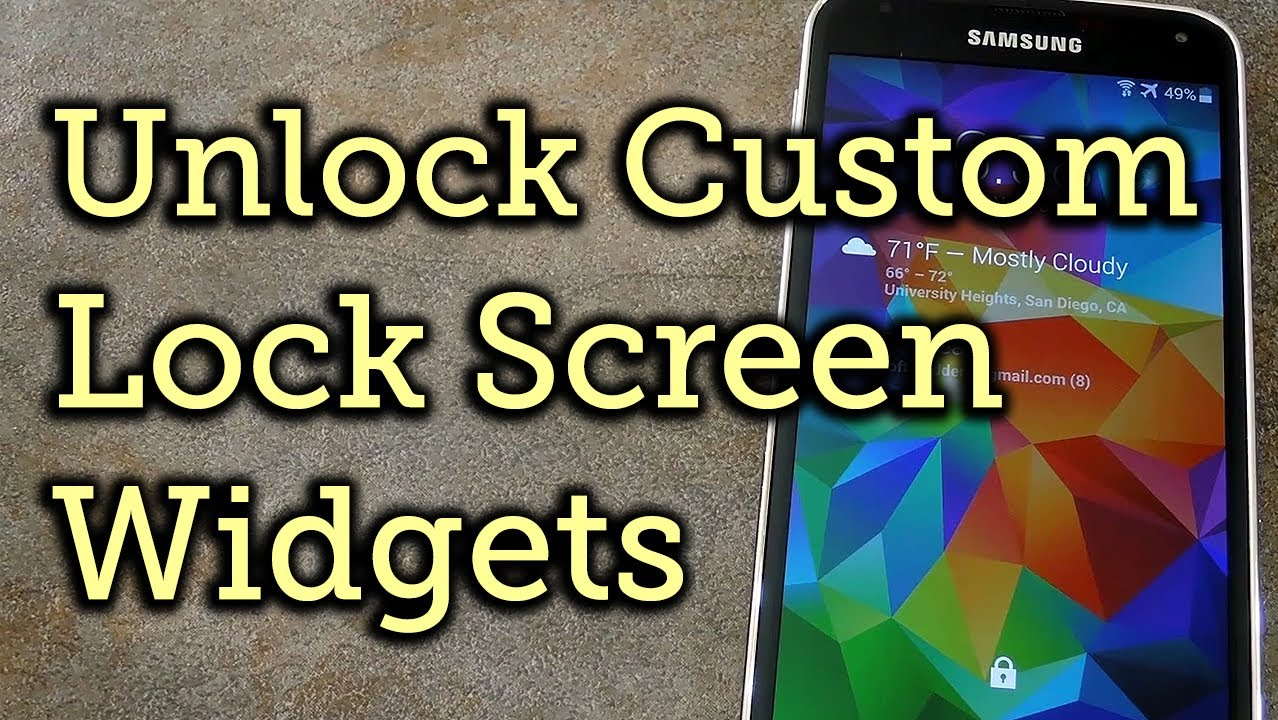 Get Custom Lock Screen Widgets on Your Samsung Galaxy S5 [How-To]