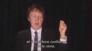 Paul McCartney - Interview on french TV - 22/10/07 - PART 3