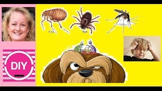 DIY Natural Bug, Head Lice, Flea, Tick, Mosquitoes Killer Repellent Soap. Dogs and People