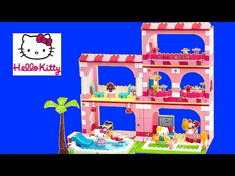 Hello Kitty Mega Bloks Vacation Resort Building Set Build Review