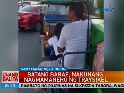 UB: Batang babae, nakunang nagmamaneho ng traysikel
