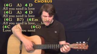 All You Need Is Love (The Beatles) Strum Guitar Cover Lesson with Chords/Lyrics