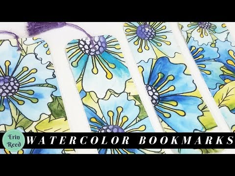 Handmade Watercolor Bookmarks made from Custom Designed Paper