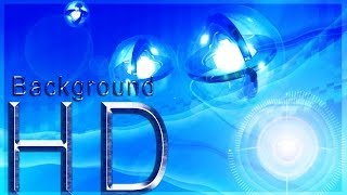 drizzle to downpour light ball blue motion background hd