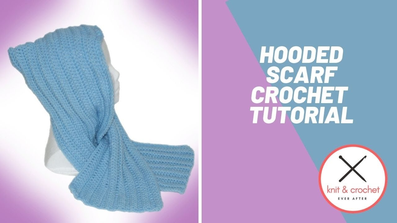 Hooded Scarf Knitting Pattern For Beginners : Free Hooded Scarf Workshop Part 1 - YouTube
