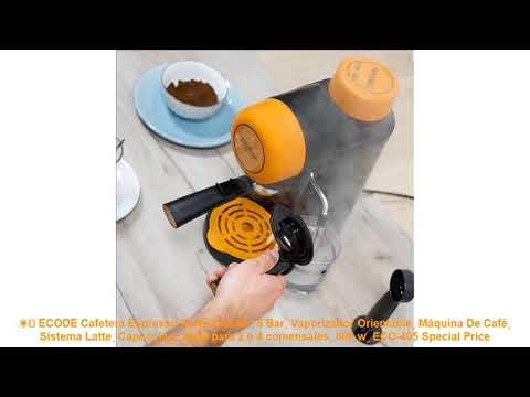 5 Bar ECODE Cafetera Espresso Forte Classic ECO 405 Jarra