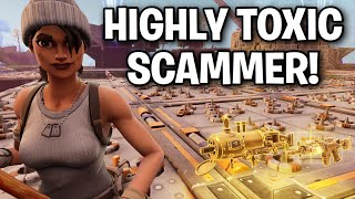 Super Toxic Squeaker regrets scamming me! 😂👌 (Scammer Get Scammed) Fortnite Save The World