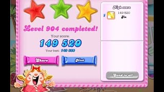 Candy Crush Saga Level 904     ★★★   NO BOOSTER