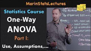 One Way ANOVA (Analysis Of Variance): Introduction | Statistics Tutorial #25 | MarinStatsLectures