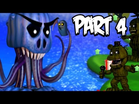 Five Nights at Freddys World Gameplay Walkthrough Part 4 | GIANT OCTOPUS!