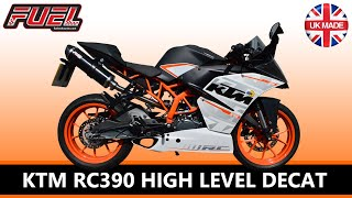 KTM RC390 2013-15 High Level Diablo Black Stainless Round Mini Fuel Exhaust