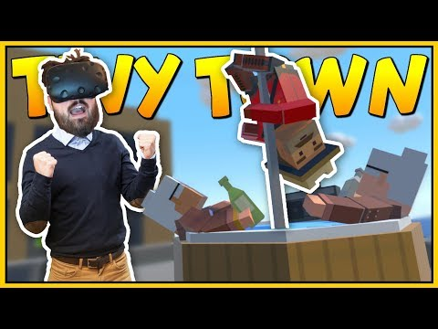 AWESOME ROOFTOP PARTIES ON TOP OF BUSINESS BUILDINGS - Tiny Town VR Gameplay - VR HTC Vive