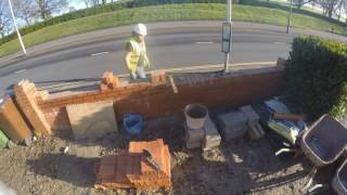 bricklaying   brick on edge coping   nvq level 2 trowel occupations apprentices   plymouth uk