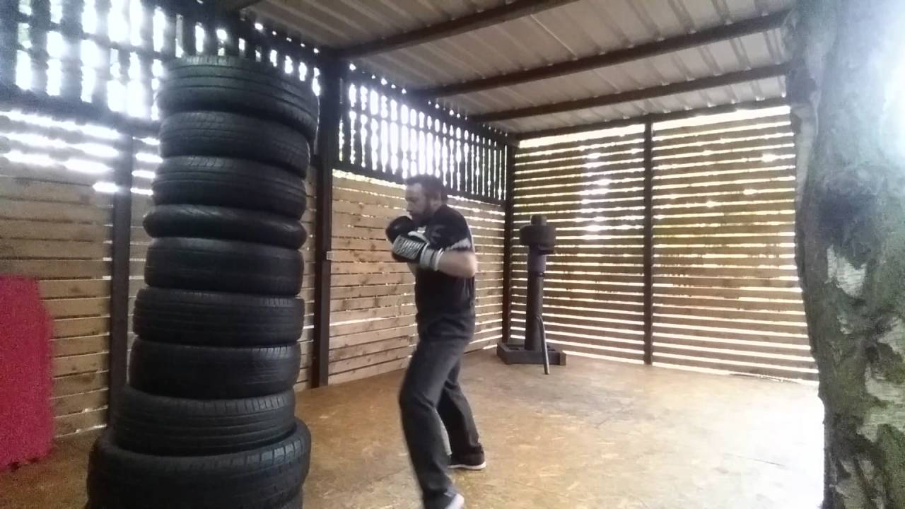 Freestanding Tyre Boxing Bag Youtube