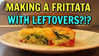 Easy FRITTATA or CRUSTLESS QUICHE Using Leftovers!  Low Carb Recipe