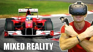 FORMULA 1 RACING IN VIRTUAL REALITY   FormulaVR HTC Vive & TPCAST Mixed Reality Gameplay