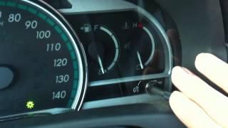 Toyota venza oil light reset