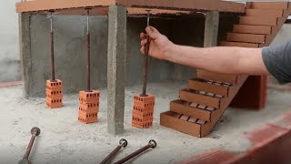 mini HOUSE in BRICKLAYING and COLUMN in CONCRETE