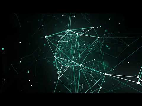 Abstract Blue Geometrical Background With Moving Lines And Dots. Looping Cg Animation || 60 Fps