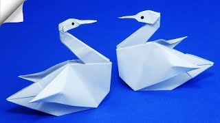 DIY paper crafts for kids Paper swan