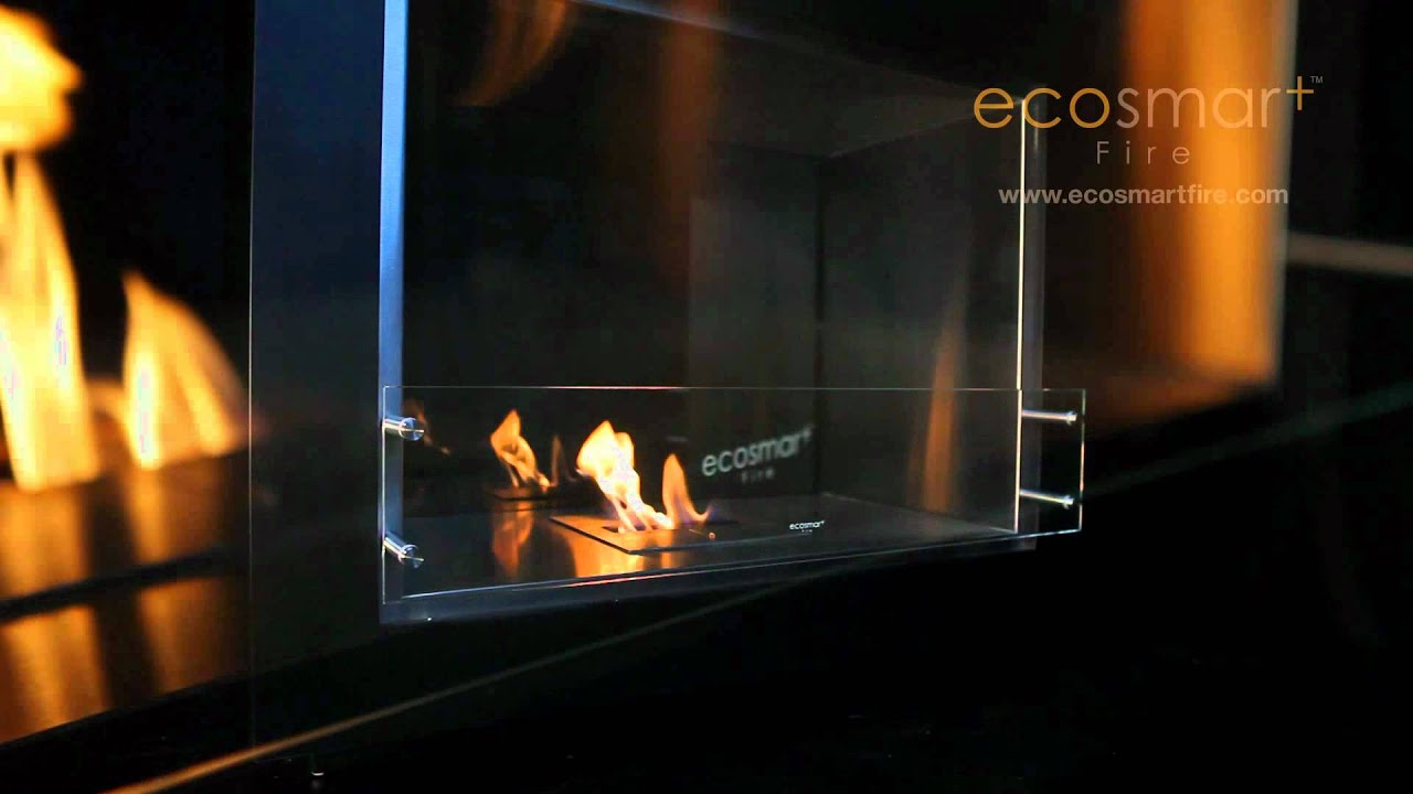 ecosmart fire vision ethanol fireplace youtube