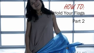 Worship Flag Dance (How to Hold Your Flags Part 2) CALLED TO FLAG  praise banners ft Claire