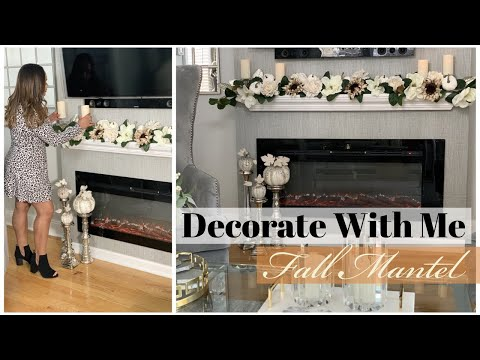 DECORATE WITH ME || DIY FALL MANTEL DECOR 2019