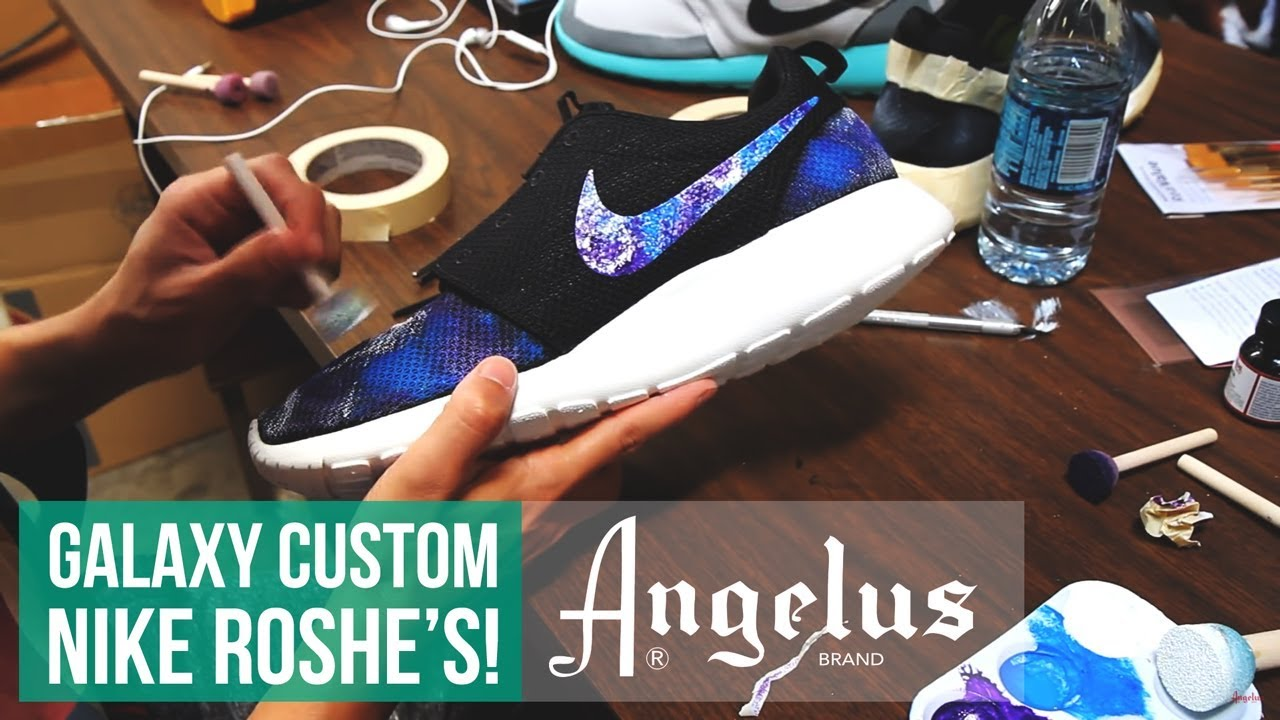 best service d5083 f0dd4 How to make Galaxy Roshe Run s using Angelus Paint. Angelus Shoe Polish
