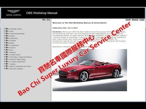 Aston Martin DB9 DBS DB7 DB6 DB5 DB4 Workshop Manual .Repair Manual. Wiring  Diagram - YouTubeYouTube