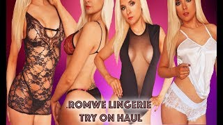 Romwe Sexy Lingerie Try On Haul | Bodysuits, Mini Dress, Teddy, Underwear