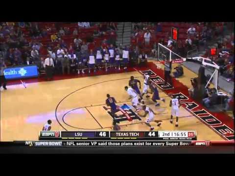 12/18/2013 LSU vs Texas Tech Men's Basketball Highlights