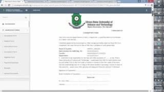 download upload of admission forms