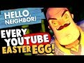 EVERY YOUTUBER EASTER EGG FOUND! Secret Hidden Items in Hello Neighbor! - Hello Neighbor Alpha 4