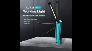 Klarus Work Light, 550lumens Rechargeable with Magnetic tail & Hook, Rotate & Foldable and 7 Modes