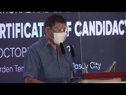 Philippine President Rodrigo Duterte says he is retiring from politics