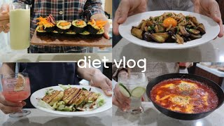 [VLOG]일주일-1kg식단|직접만든 치아바타로 샌드…