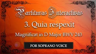 Quia respexit from Magnificat BWV 243 KARAOKE FOR SOPRANO - J.S. Bach - Key: D Major