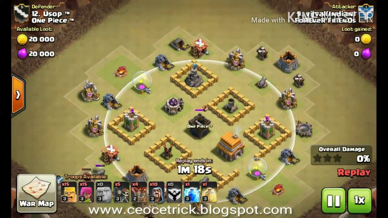 Base Coc Th 5 War Anti Bintang 3 1