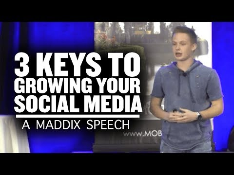 3 Keys To Growing Your Social Media | Caleb Maddix Speaks In Las Vegas